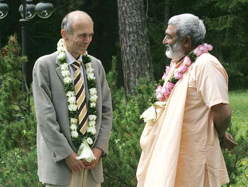 Sadhu Maharaja Meets Slovenian President