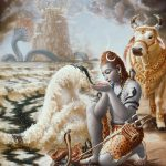 Lord Shiva Drinking the Oceon of Poison