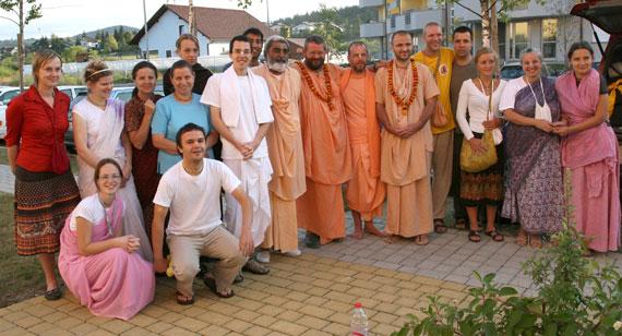 Srila Paramadvaiti Maharaja visiting Slovenia