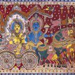 Sri Krishna and Arjuna, Orissan Pata-chitra