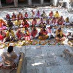 A mass marriage at Sri Jugal Kishore Mandir