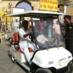 Sri Radha Govinda's Electric car