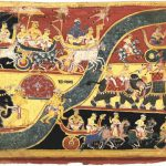Krsna sets out for Indraprastha