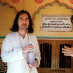 George Harrison at Radha Damodar Mandir, Vrindavan