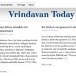 Vrindavan Today: News-site in English and Hindi