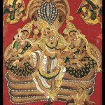 Vishnu, Sri and Bhu Devis on Ananta-sesa