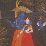 Radha and Krishna in Monsoon