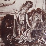Radha and Krishna Swinging