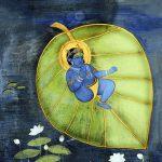 Krishna on Kalpabata leaf