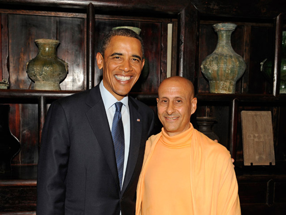 Radhanath_Swami_with_President_Obama1