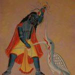 Krishna kills Bakasura