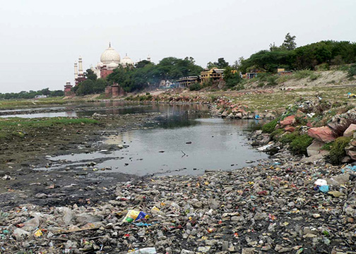 river-yamuna-full-of-plastic-bags