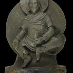 Buddhist deity carved from rare meteorite