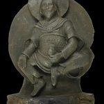 Buddhist deity carved from rare meteorite