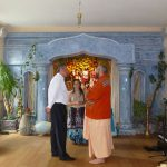 Colombian Ambassador visiting new Sri Sri Gauranga Radha Govinda temple in Berlin