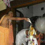 Srila B.B. Bodhayan Maharaja performing abhisheka