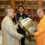President of India receives Srila Prabhupada's Gita