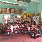 School bag distrubution at Sri Purusottam Math