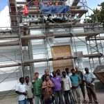 Temple construction in Berlin in south india style