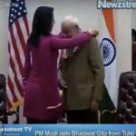 Tulsi Gabbard meets Narendra Modi