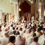 Srila Prabhupada lectures at Sri Krishna Balaram Mandir, Vrindavan