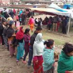 ISKCON Katmandu Distributes Food to the Earthquake Victims