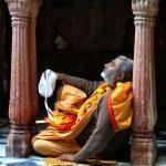 Srila B.V. Sadhu Maharaja in Yamuna-Kunja