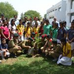 Students concerned about the diminishing green cover in Vraja