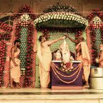 Radhastami's abhishek ceremony at Sri Radha-Shyamsundar Mandir