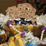 Sri Gopal Bhatta ke Vaman shila's darshan – Radharaman temple