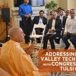 Tulsi and Radhannath Swami meeting with top people in Silicon Valley
