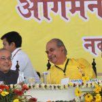 President of India in Vrindavan