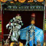 Shri Radha Shyamsundar's daan lila vesh
