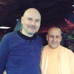 Radhanath Swami with Smashing Pumpkins lead singer