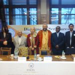 WVA-VVRS secretary Swami B.A. Paramadvaiti attending a peace-meeting in Berlin with representatives from different religions
