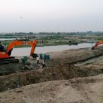 Excavation of Parallel Drainage System on Yamuna underway