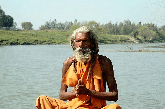 Praying at Aadi Ganga (Gomti)