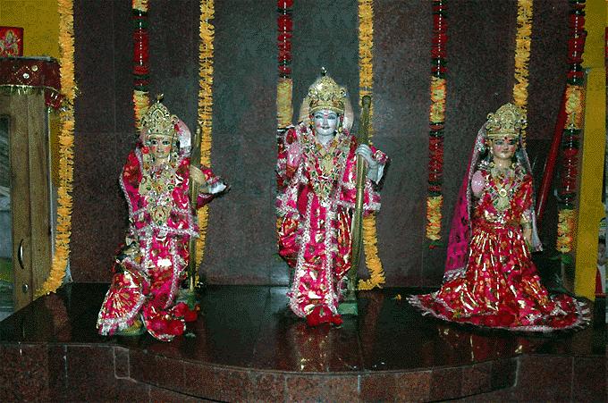 Sita-Rama-Laksman Deities at Hanuman Garhi
