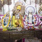 Sri Radha Damodar dressed as Sri Narasingha-dev