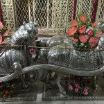 Bihariji goes out on a gold and silver chariot