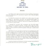 Message of President of India for ISKCON50