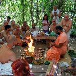 Srila Bhakti Vigyan Bharati Maharaj starting to give initiation