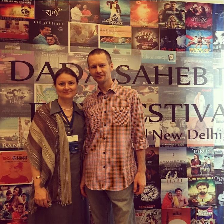 Vijay Radhika and Shyam Gopal at 6th Dada Saheb Phalke Film Festival, Delhi, April 2016.