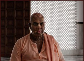 HH Bhaktivrajendranandana Maharaja chanting Jappa in Iskcon Temple Malaysia