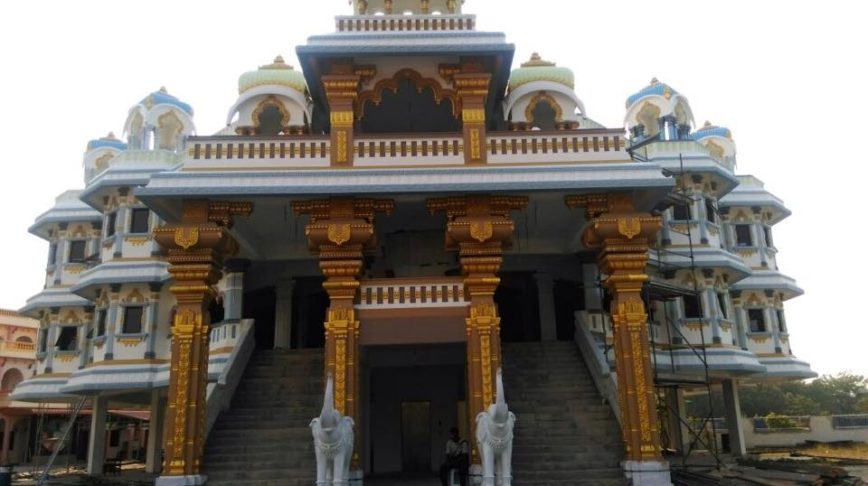 Entrance of the beautiful Iskcon Temple Malaysia