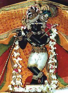 The beautiful deity of Sri Radha Raman Ji