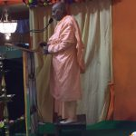 Srila Gopananda Bon Maharaj speaking at Chaitanya Mela 2017