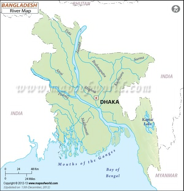 river map of india and bangladesh relationship