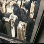 Srila B.V. Puri Maharaj on top of WTC, 10 days before it went down