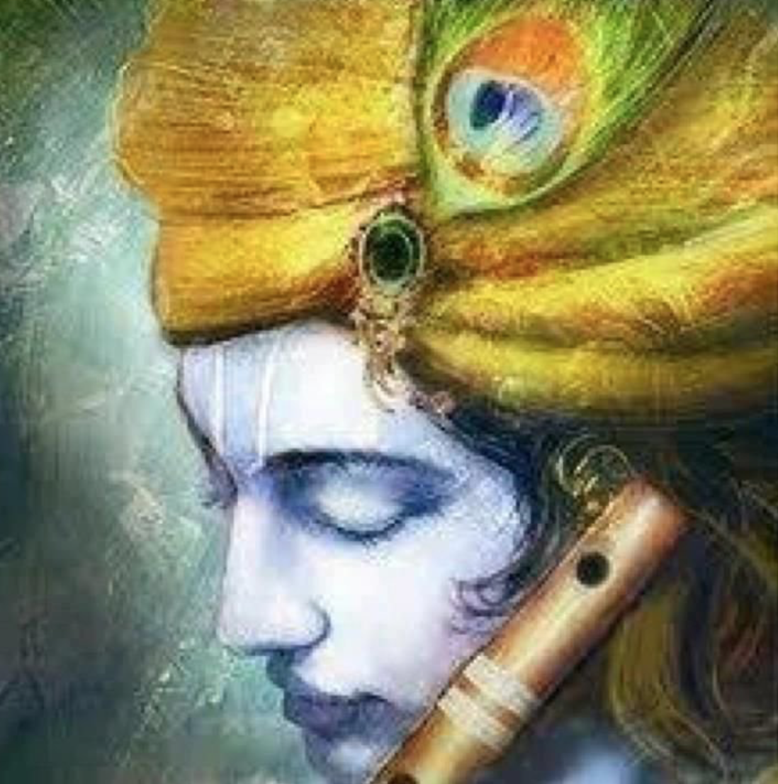 krishna with bamboo flute